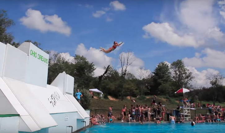The Slip N Fly is only open to the public for two weeks in August, but it's worth the wait. It's like the classic slip 'n slide and an intimidating waterslide had a baby. - JAKE RYAN/YOUTUBE