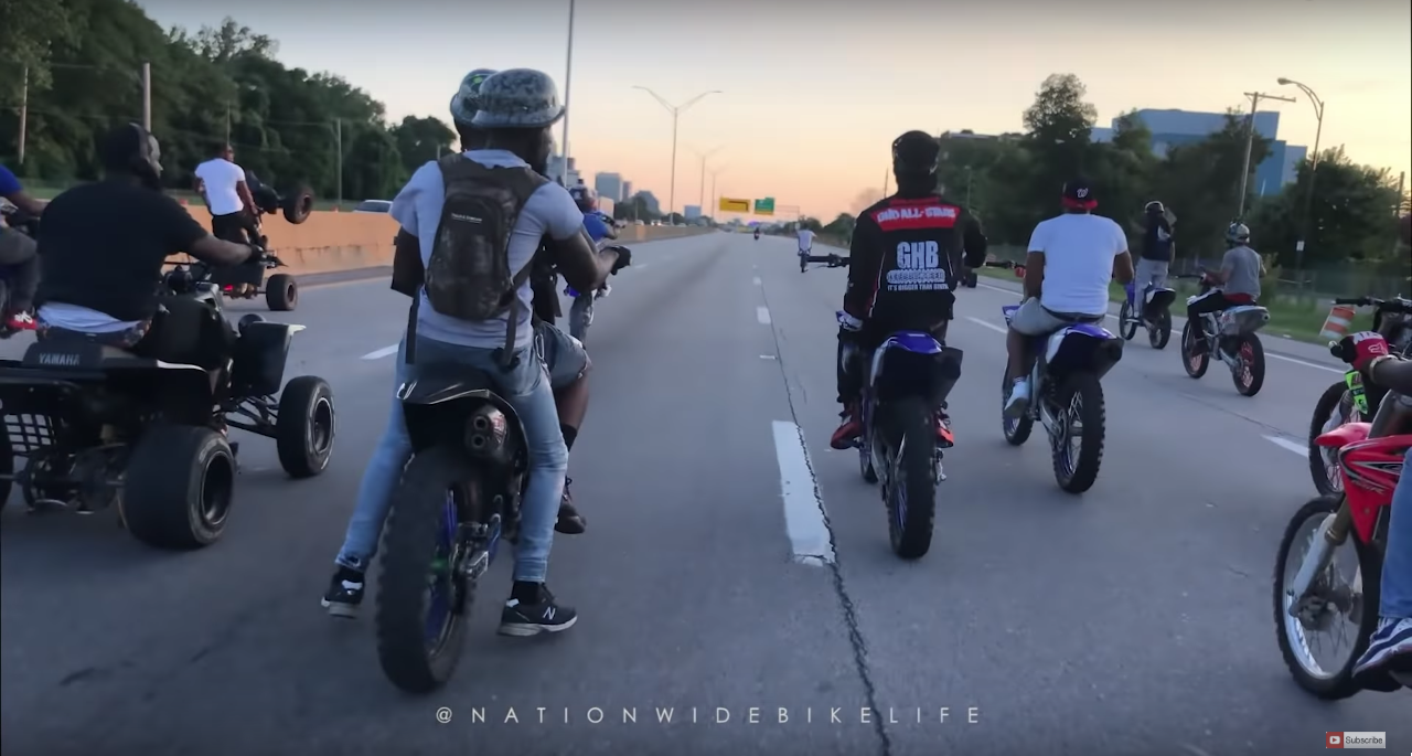 Here's Footage of the Massive Group of Dirt Bike and ATV Riders in