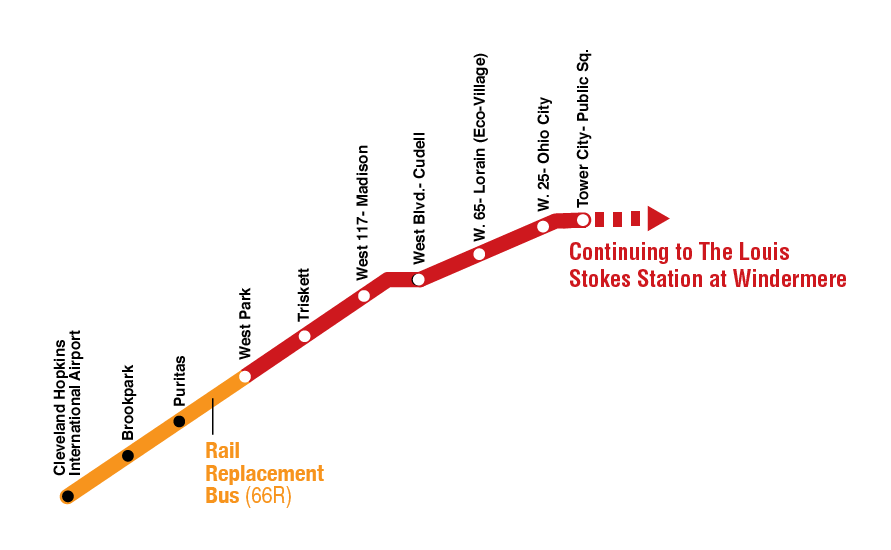 RTA Shuttle Buses to Replace Red Line Rapid from Cudell to Hopkins on