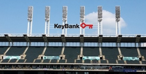 A rendering of KeyBank's signage at Progressive field, to remind us of baseball.