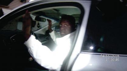 Wright - SCREENSHOT: EUCLID POLICE BODY CAM FOOTAGE OF LAMAR WRIGHT ARREST