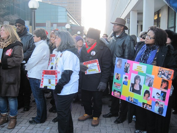 Justice for Aliza Sherman rally in 2014 - ERIC SANDY