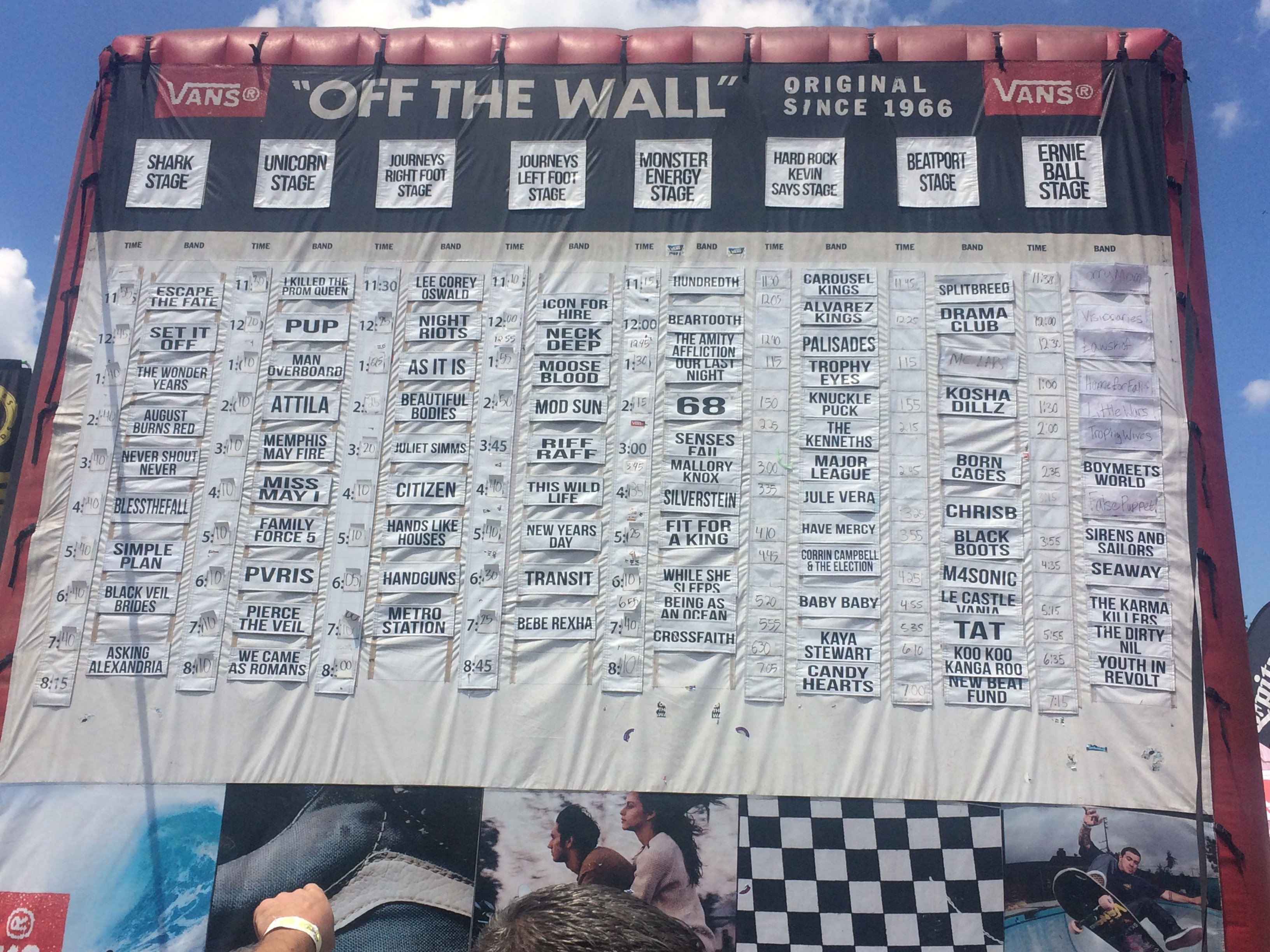 Warped Tour  Cleveland Lineup