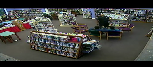 SCREENSHOT OF LAKEWOOD LIBRARY CAMERA FOOTAGE