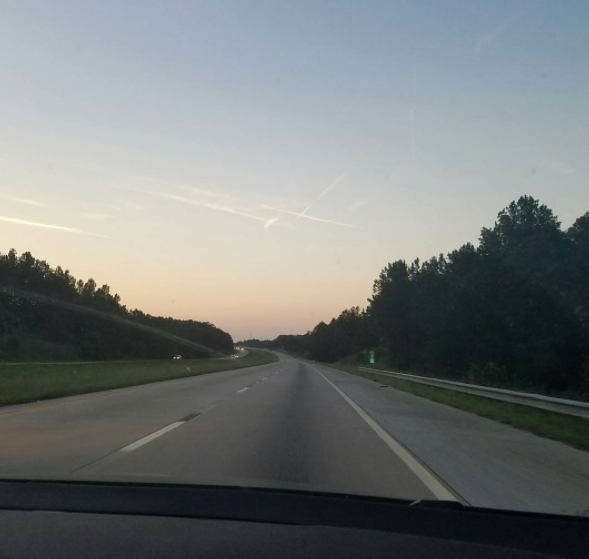 Interstate 77 North. - PHOTO VIA BARBARACALO75/INSTAGRAM
