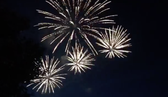 Fireworks on display in Lakewood yesterday. - PHOTO VIA AVGERO/INSTAGRAM