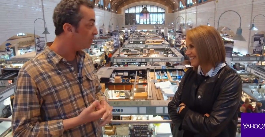 "Scene Food Editor Douglas Trattner talks with Katie Couric for ""Cities Rising."" - SCREENSHOT"