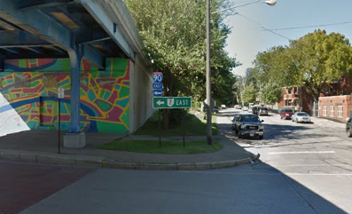 West 28th and Division, near the Shoreway on-ramp, where the shooter encountered the victim. - GOOGLE MAPS