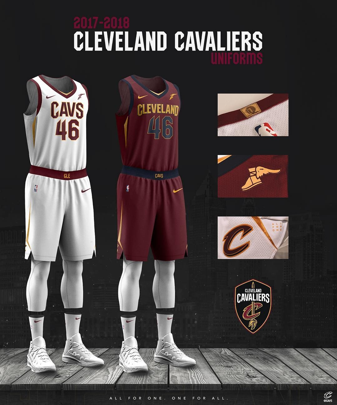 7ac2cd227fb0 click to enlarge The Cavaliers  new white uniforms. - CLEVELAND CAVALIERS  INSTAGRAM