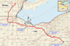 The NEXUS pipeline route
