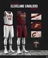 The Cavaliers' new white uniforms.