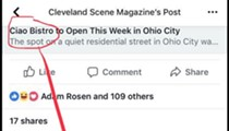 Future of Ciao Bistro in Ohio City Unclear after Facebook Comment Labels Neighbors 'liberal white c*nts'