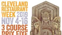 The Annual Cleveland Restaurant Week to Return Nov. 4-16