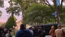 Shaker Police Investigating After Officer Caught on Camera Flicking Off Protestors at Presidential Debate in Cleveland