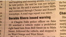 TV Personality Geraldo Rivera Pulled Over in Chagrin Falls