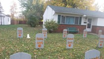 Cleveland Browns Fans Put Up Quarterback Graveyard on Front Lawn for Halloween