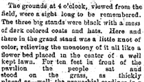 Here's the Plain Dealer Story on the First Baseball Game at League Park, 125 Years Ago Today