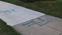 Backwards Swastikas Spray-Painted on Lakewood Resident's Driveway