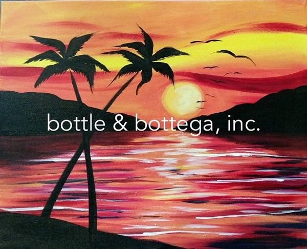 Warm up wednesday paint sip party bottle bottega for Paint and sip cleveland