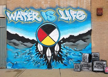 Artists Stop in Cleveland to Paint Dakota Access Protest Mural