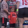 Indians Welcome Tonight's First Pitch From Girl with 3D-Printed Hand