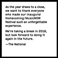 The National Hope to Bring the Homecoming Music Festival Back to Cincinnati, Just Not in 2019