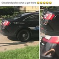 Someone Stuck a Dildo on a Cleveland Police Cruiser