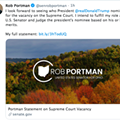 In a Real Shocker, Rob Portman Totally Cool Being a Hypocrite and Liar About Filling Supreme Court Seat