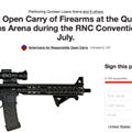 Update: Secret Service Confirms No Weapons at Quicken Loans Arena for RNC Despite Petition Demanding Open Carry
