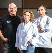 Michael Symon, Karen Small and Dante Boccuzzi