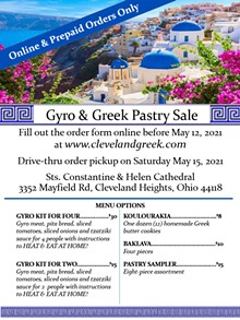 Gyro   & Greek Pastry Sale - Uploaded by Sts. Constantine and Helen Greek Orthodox Church