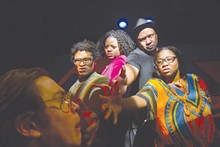 PHOTO BY TOM KONDILAS - Nate Miller, Wesley Allen, Rochelle Jones, Michael May, India Nicole Burton