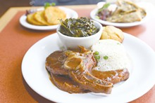 PHOTO BY EMANUEL WALLACE - Southern Cafe's pork chops