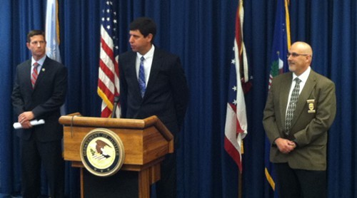 U.S. Attorney Steven Dettelbach announces charges against a trio of Ashland creeps June 18.