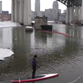 VIDEO: Watch these Guys Paddleboard Down the Cuyahoga on a Cold Winter Day