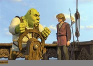 Watch out, Artie: Word is that Shrek has been taking  lessons from Linda Blair.