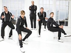 What's black and white all over? The Hives and their furniture.