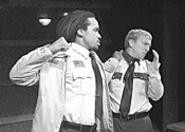 William (Jimmie D. Woody, left) earns the respect of - the conflicted Jeff (Matthew Joslyn).