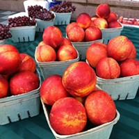 Cleveland Eats: 20 Things You Ate This Week Woolf Farms has #nectarines that taste as good as they look! Find them at University Hospitals and @playhousesquare #farmersmarkets today! #nofilter #fresh #local #fruit #healthy #ohio #farms #NUFM #realfood #happyinCLE #CLEfood #dtCLE #universitycircle Photo Courtesy of Instagram User badbrad1072