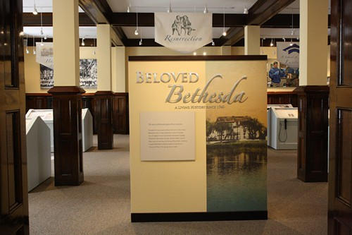 A peek at the interior of the William H. Ford Museum and Visitor Center