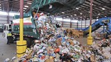 A view inside the City's recycling facility