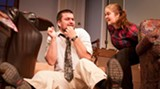 Alec Caldas and Sariah McCall in AASU's 'The Prisoner of Second Avenue.'