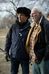 Alexander Payne (left) with actor Bruce Dern on the set of Nebraska.
