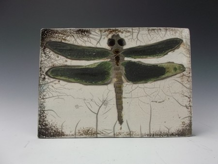 An example of work created in the Ceramics Tile Making class
