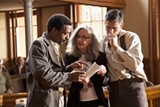 BEAU GIANNAKOPOULOS - Annette Haywood-Carter directs Christmas and Ward (Chiwetel Ejiofor and Jim Caviezel) on set.