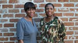 Authors Brenda Roberts, left, and Pamela Howard-Oglesby