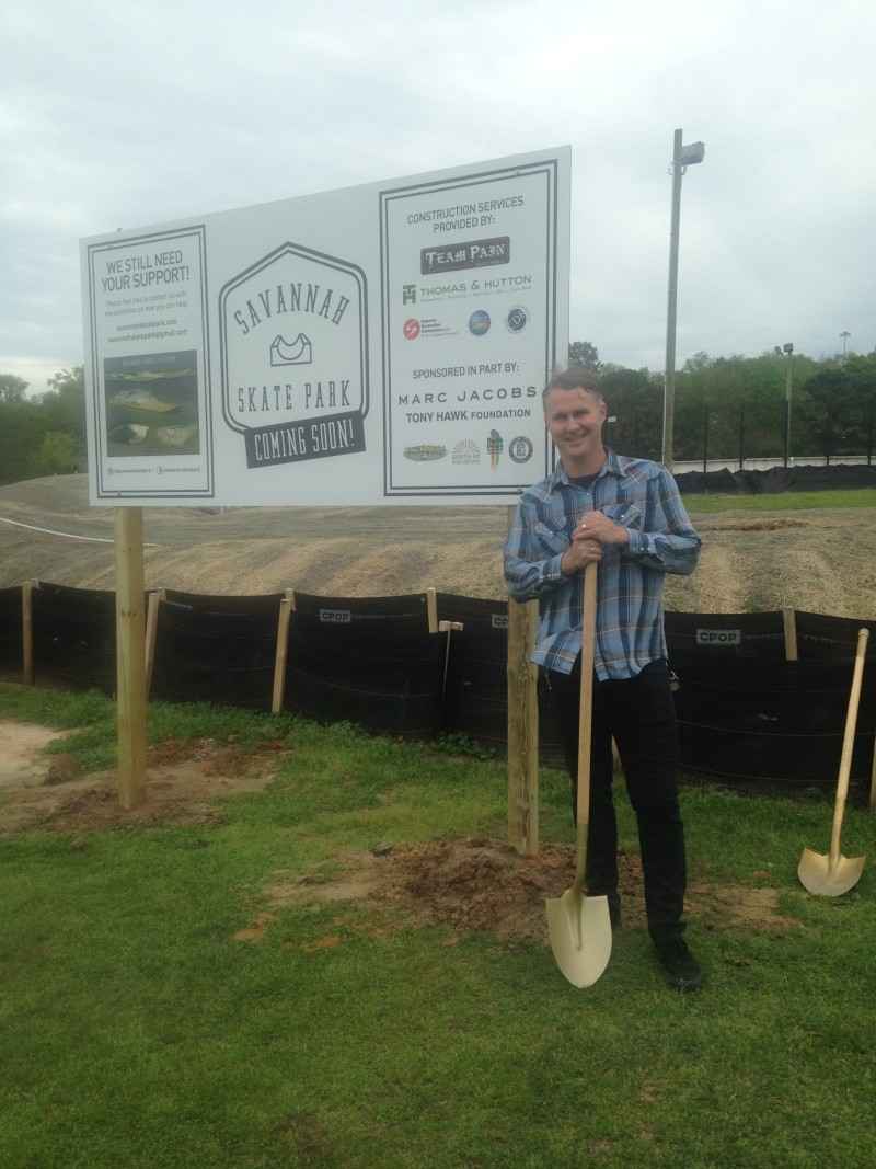 Ben Maher at the groundbreaking last week.