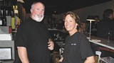 Best Bartender Paula Letcher with partner Johnny Baker at bar.food