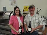Beth and Bill Utter with some of their latest bottlings