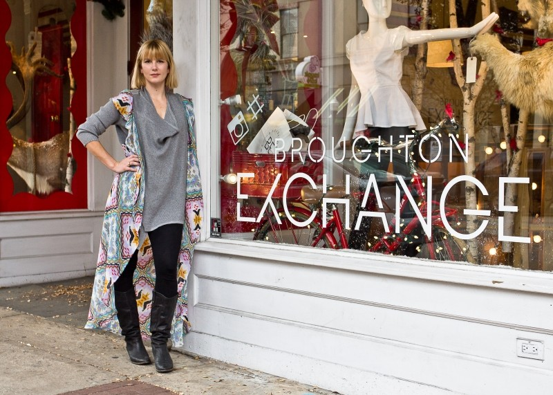 Broughton Exchange manager Abbie May Hastings oversees an inventory of locals-only designs. - JON WAITS/@JWAITS